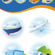 Travel transportation icon set. — Stock Photo #7561387