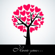 Abstract heart tree — Stock Photo