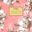 Vintage flower background - Stock Photo