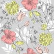 Seamless vintage flower pattern, floral vector — Stock Photo #7561529