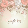 Cute floral greeting card — Stock Photo