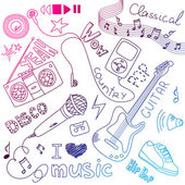 Music Doodles — Stock Photo