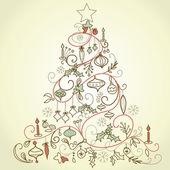 árvore de natal retrô — Foto Stock
