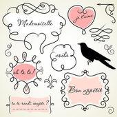 Cornici di doodle — Foto Stock