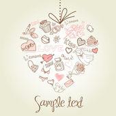 Valentijn hart wenskaart. — Foto de Stock