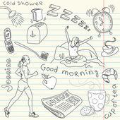 Cute morning doodles — Stock Photo