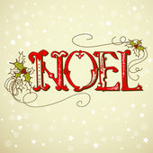 Vintage Christmas Card. NOEL lettering — Stock Photo