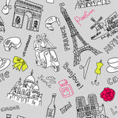 Sightseeing in paris doodles — Stock Photo