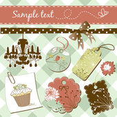 Vintage scrap-booking elements — Stock Photo