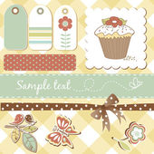 Cute scrapbooking elements — Stock Photo