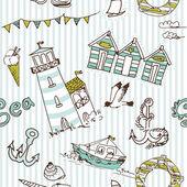 Sea seamless pattern — Stock Photo