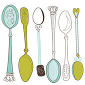 Vintage spoons — Stock Photo