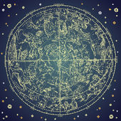Vintage zodiac constellation of northen stars. — 图库照片