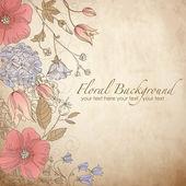 Bonito cartão floral — Foto Stock