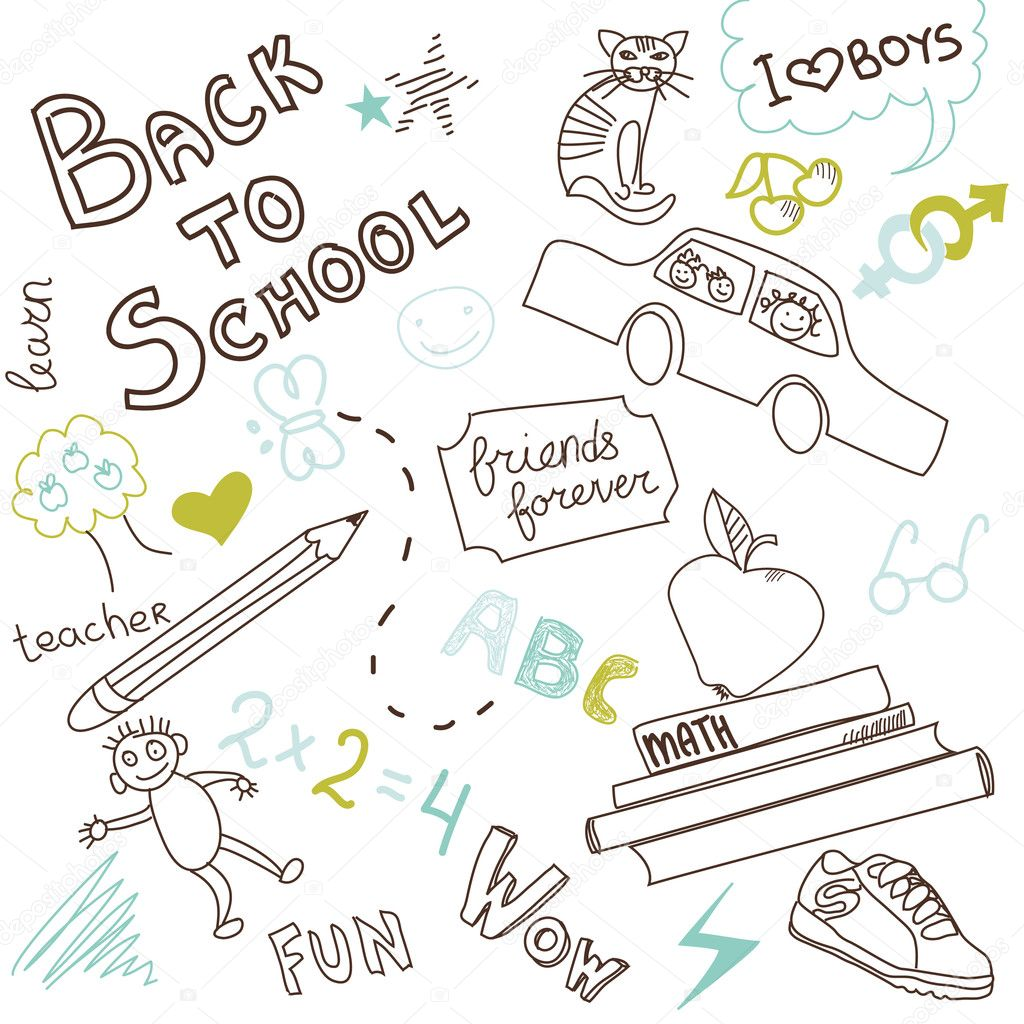 Back to school doodles — Stock Photo #7560274