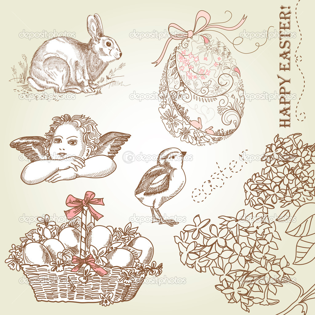 Vintage Easter Set — Stock Photo #7560452