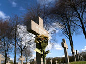 Grave of an unknown german soldier of worldwar two — Stock Photo