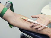 Blood prick — Stock Photo