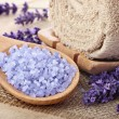 Royalty-Free Stock Photo: Lavender sea salt, natural organic spa arrangement