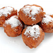 Oliebollen, dutch traditional new year pastry - Zdjęcie stockowe