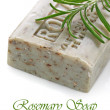 Natural and organic herbal handmade soap bar - Stock Photo