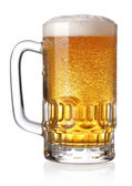 Glass of beer (clipping path) — Stock Photo
