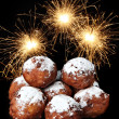 Oliebollen, dutch traditional new year pastry — Stock Photo
