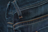 Blue denim jeans — 图库照片