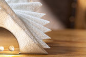 White napkins holder — Stock Photo