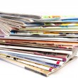 Stack of magazines - Stock Photo