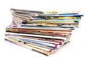 Stack of magazines — Stock Photo