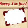 New Year greeting card — Stock Photo
