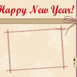 Stock Photo: New Year greeting card