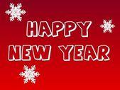 Tarjeta de felicitación de año nuevo — Foto de Stock