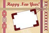 New Year greeting card — Stock Photo