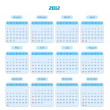 Blue Calendar for 2012 year — Stock Photo
