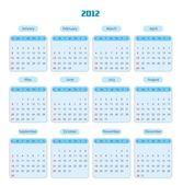 Blue Calendar for 2012 year — Stock Photo