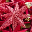 Shinny Red Christmas Stars — Stock Photo