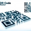 3d qr code in vector format — Stock Vector