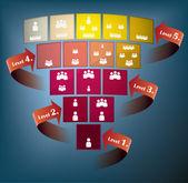 Quattro fermate di presentazione di un piano — Vettoriale Stock