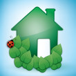 Green Eco-friendly House — Stock Vector