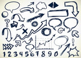 Hand-drawn Set Of Doodles — Stock Vector