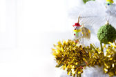 Snowman on a Christman Tree — Stock Photo