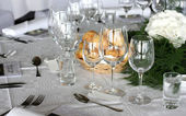 Wedding Dining Table — Stock Photo