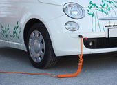 Electric car Recharging — Stock Photo