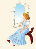 Prinses — Stockvector