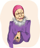 Glamurnaya old woman — Stock Vector