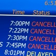 Cancelled flights — Stock Photo