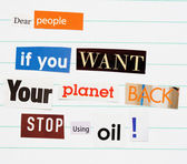 Environment ransom note — Stock Photo