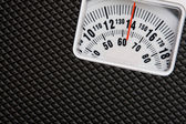 Scale showing weight — Stock Photo